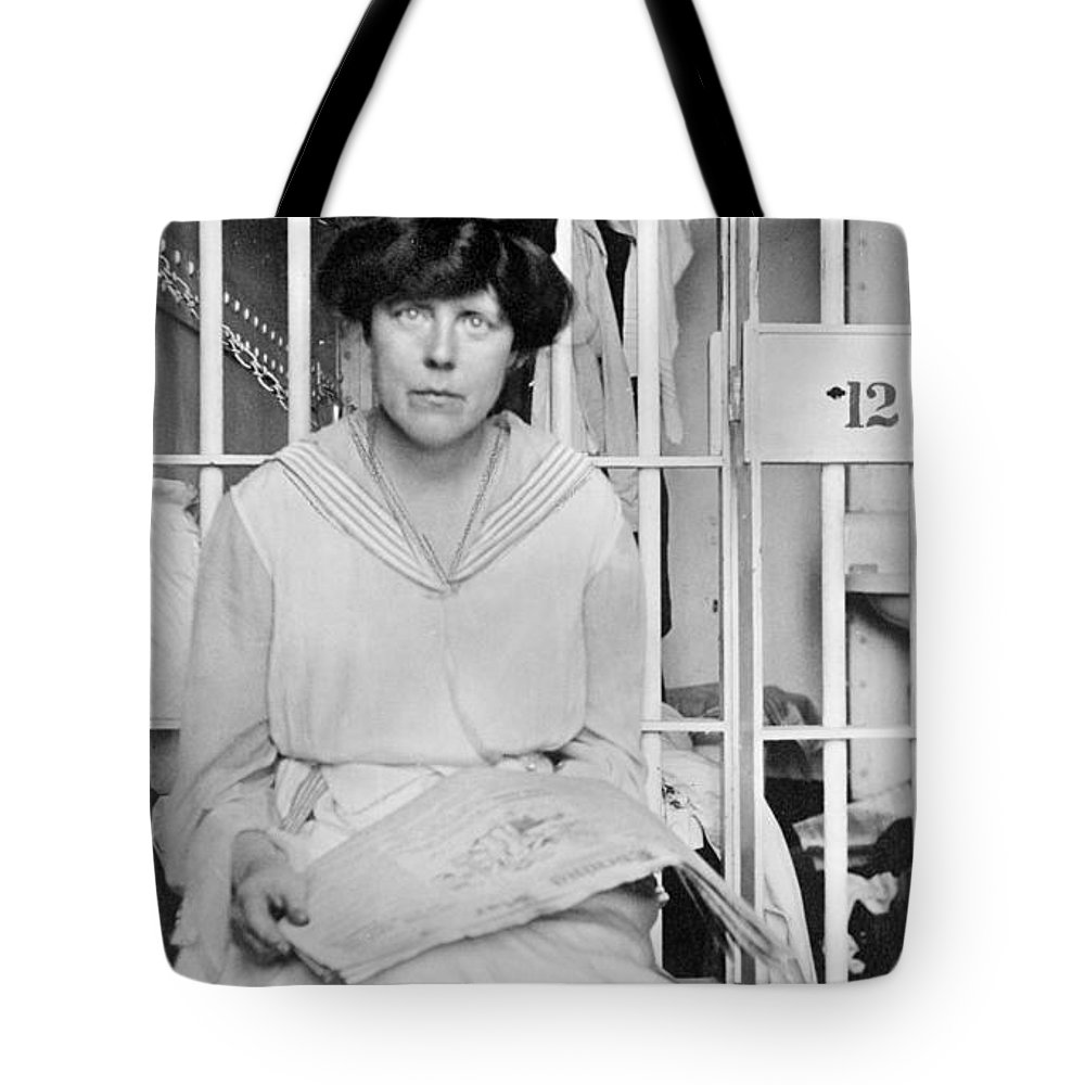 1917 Tote Bag featuring the photograph Lucy Burns (1879-1966) by Granger