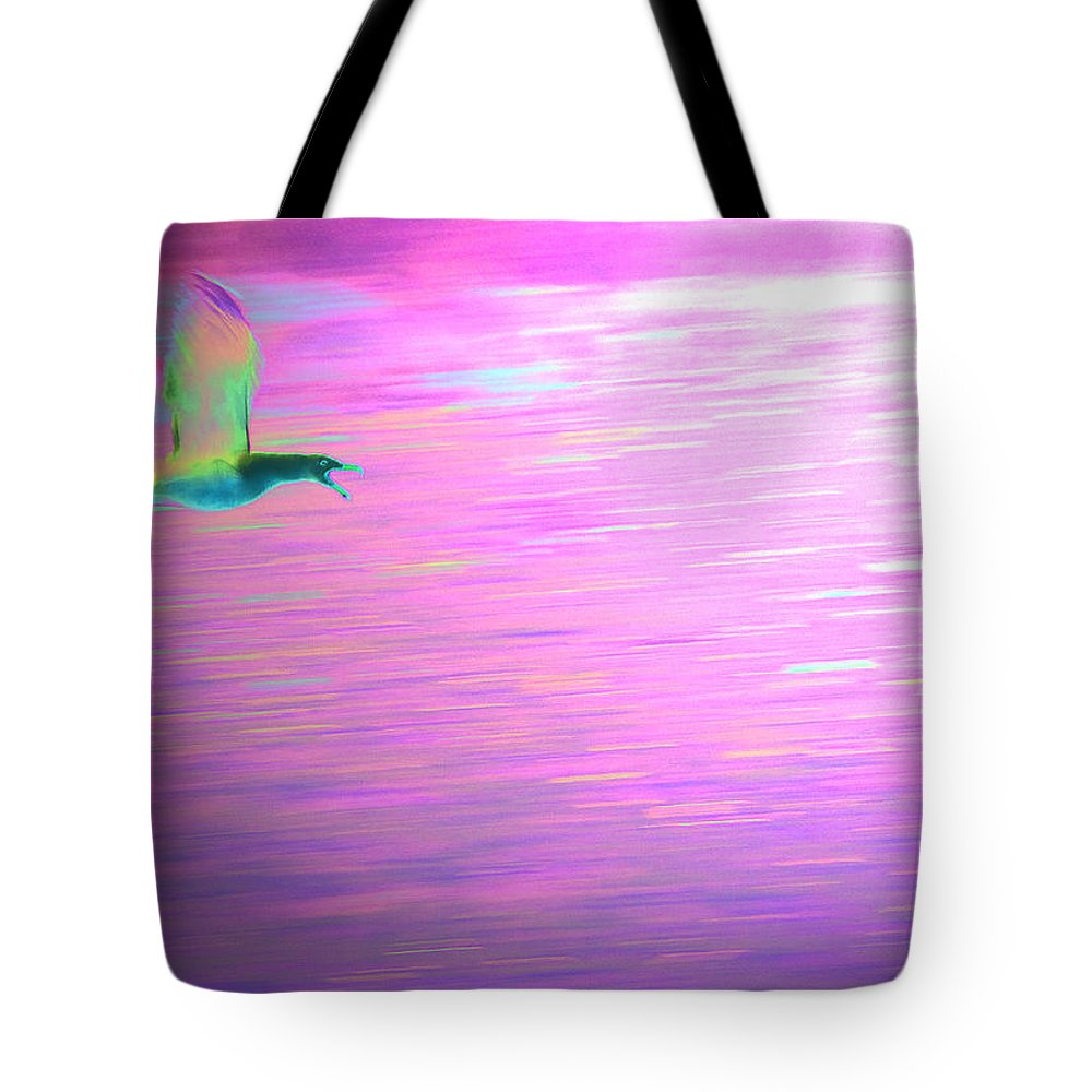 Seagull Tote Bag featuring the mixed media Lucy In The Sky by Steven Natanson