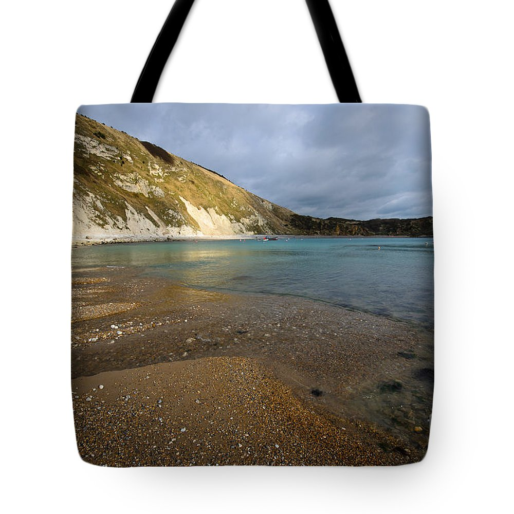 Dorset Tote Bag featuring the photograph Lulworth Cove by Smart Aviation