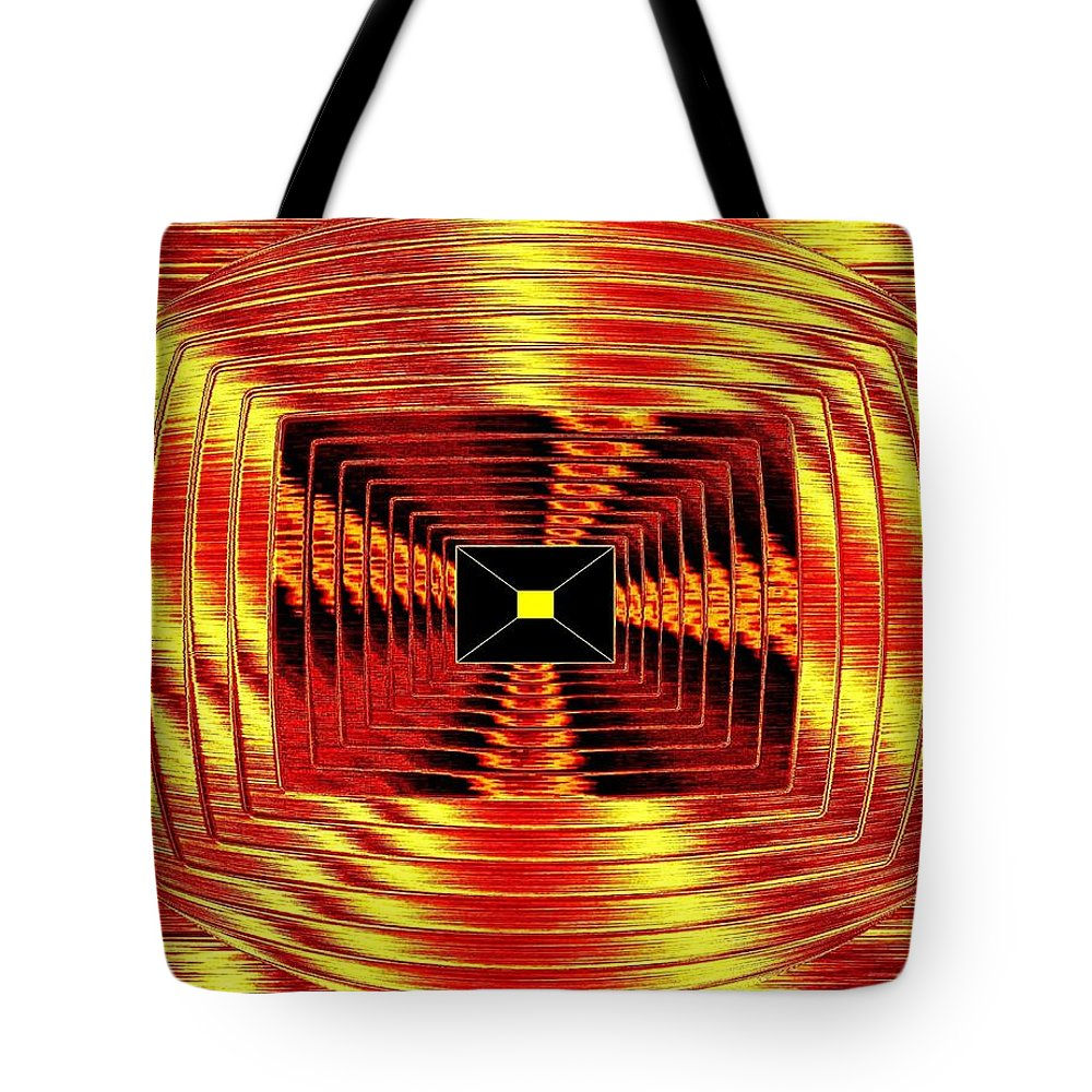 Abstract Tote Bag featuring the digital art Luminous Energy 12 by Will Borden