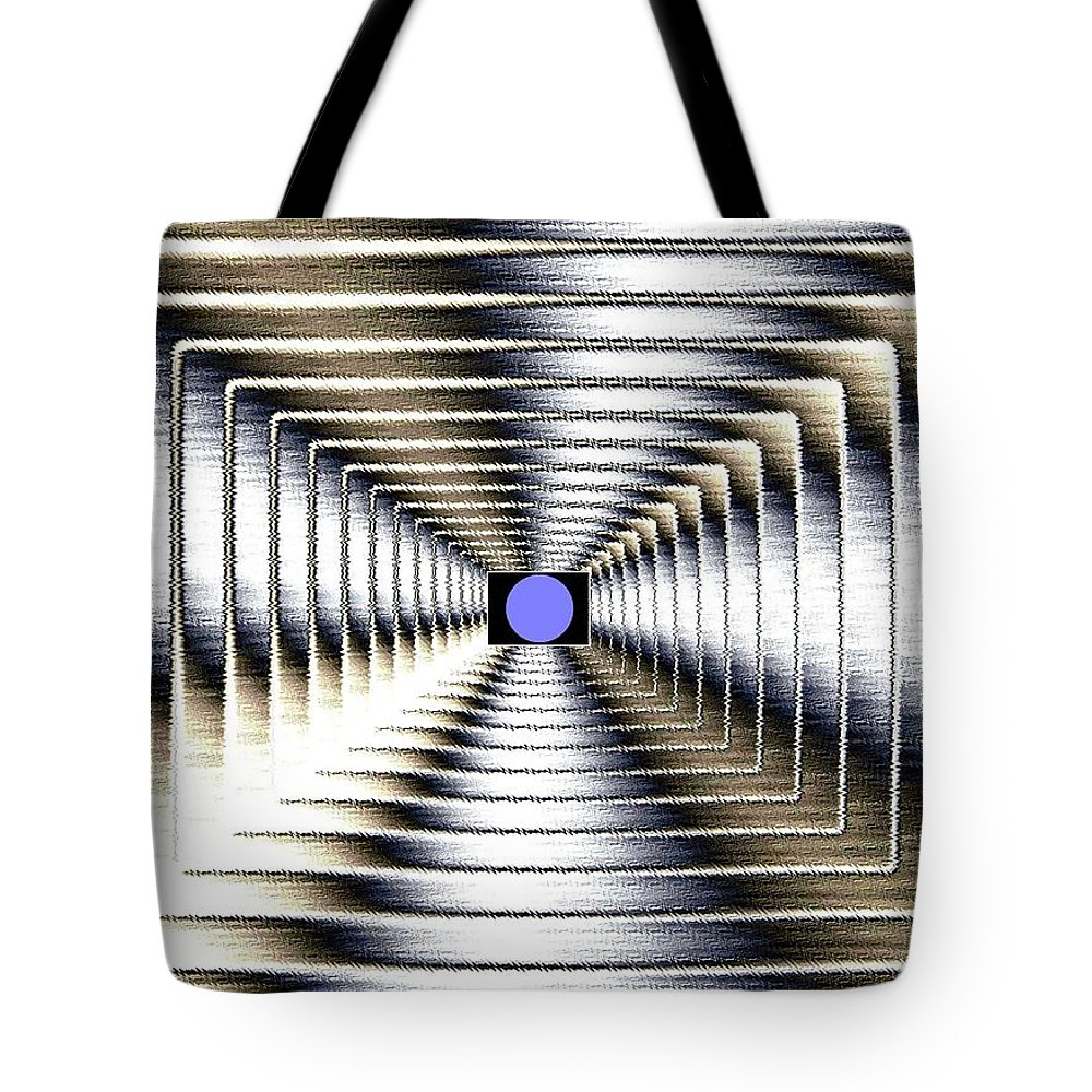 Abstract Tote Bag featuring the digital art Luminous Energy 6 by Will Borden