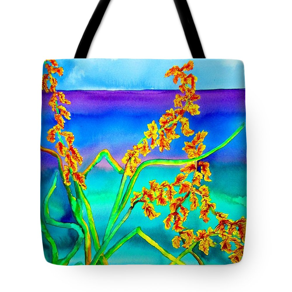 Lil Taylor Tote Bag featuring the painting Luminous Oats by Lil Taylor