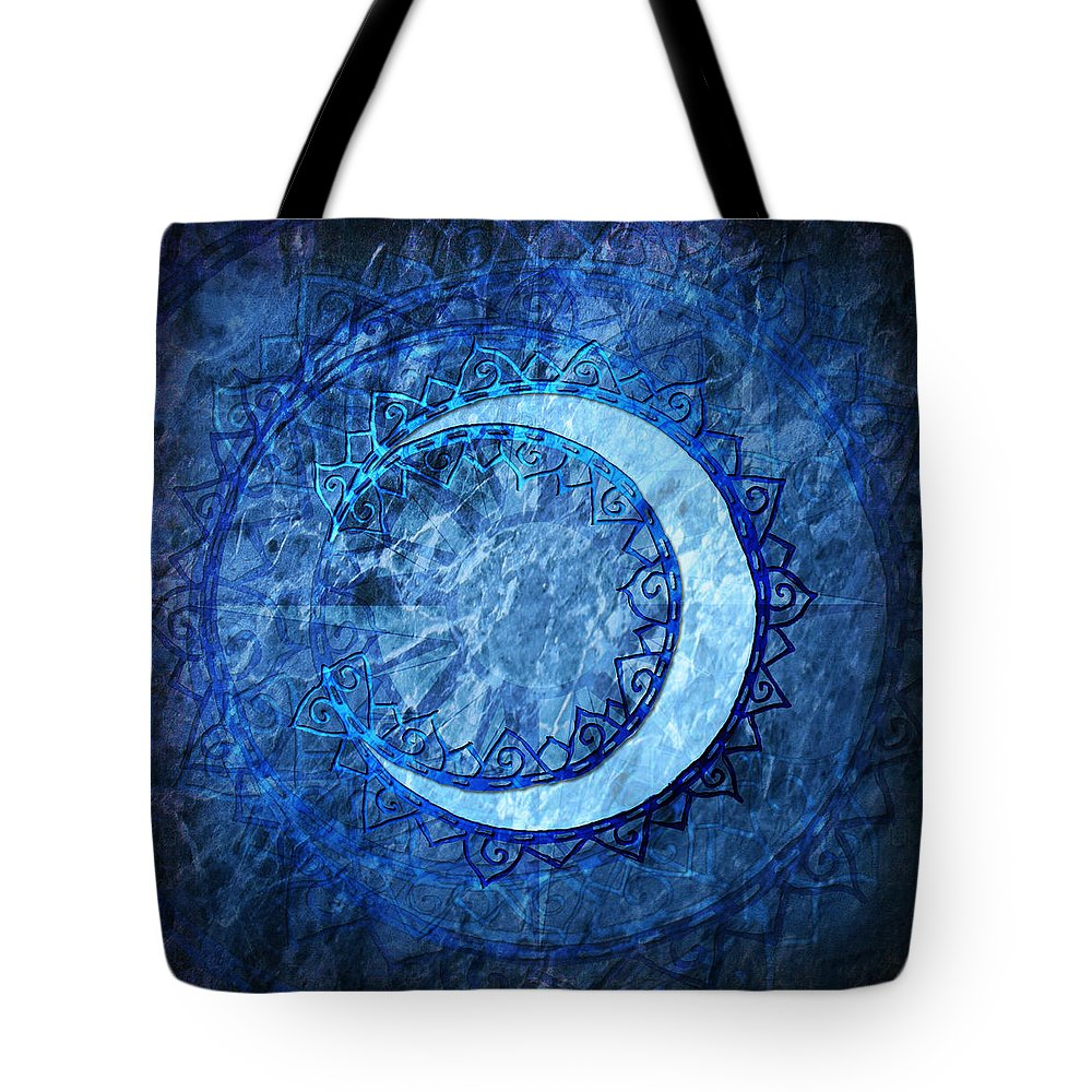 Moon Tote Bag featuring the digital art Luna by Kenneth Armand Johnson