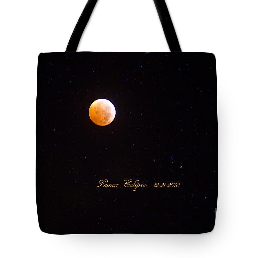 Lunar Eclipse Tote Bag featuring the photograph Lunar Eclipse by Scott Pellegrin