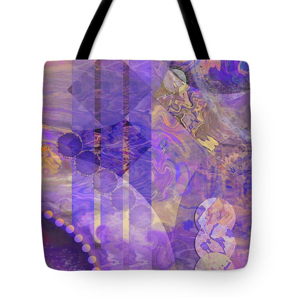 Lunar Impressions 2 Tote Bag featuring the digital art Lunar Impressions 2 by John Beck