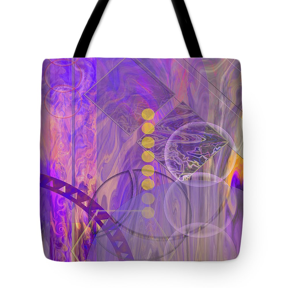 Lunar Impressions 3 Tote Bag featuring the digital art Lunar Impressions 3 by John Beck
