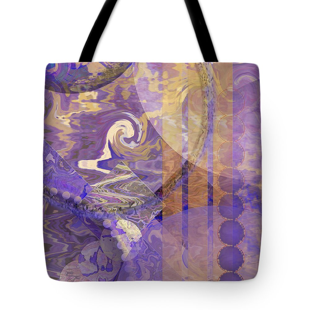 Lunar Impressions Tote Bag featuring the digital art Lunar Impressions by John Beck