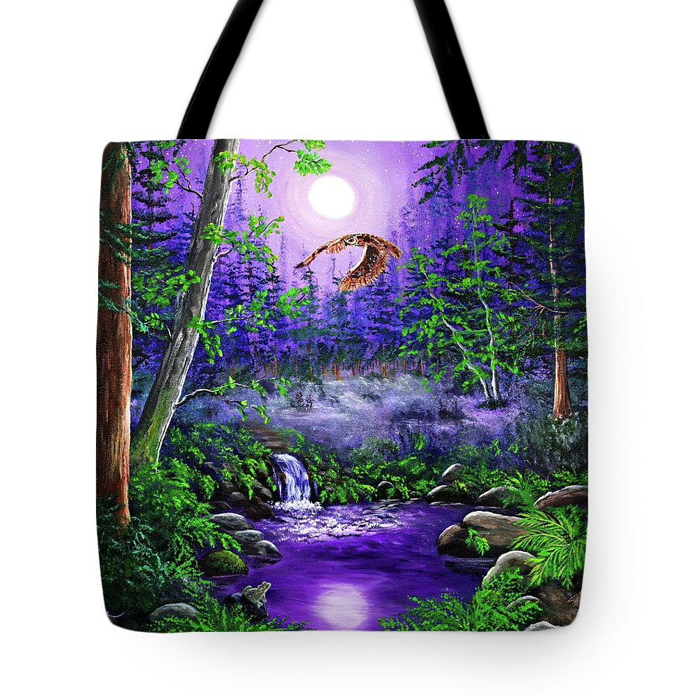 Zenbreeze Tote Bag featuring the painting Luna's Flight by Laura Iverson