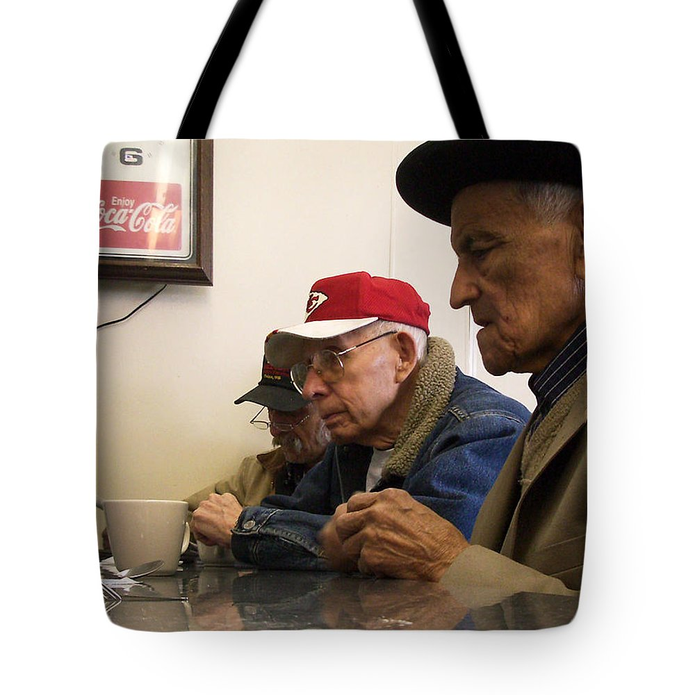Diner Tote Bag featuring the photograph Lunch Counter Boys by Tim Nyberg