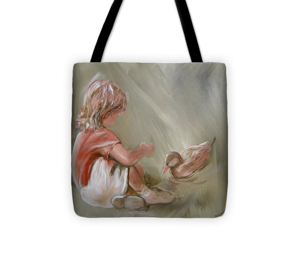 Girl Tote Bag featuring the painting Lunch Pals by Regina Walsh