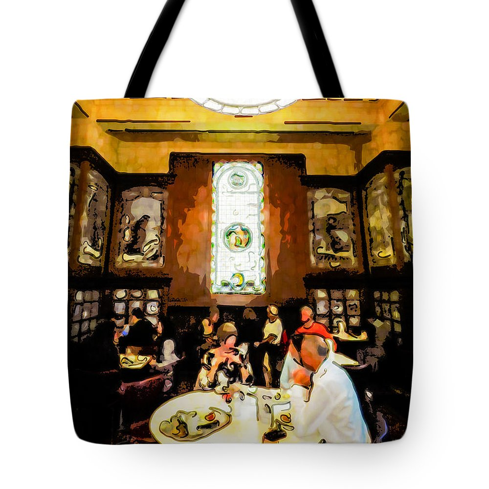 Architecture Tote Bag featuring the digital art Luncheon Trays by Steve Taylor