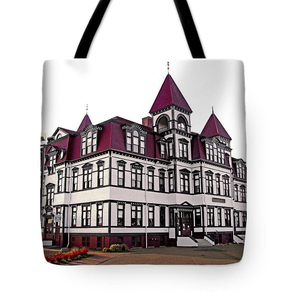Lunenburg Academy Tote Bag featuring the photograph Lunenburg Academy 2 by Mark Sellers