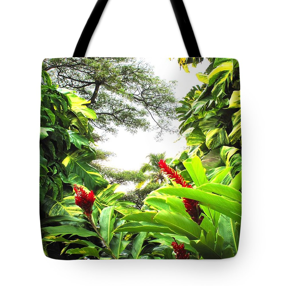 St Kitts Tote Bag featuring the photograph Lush by Ian MacDonald