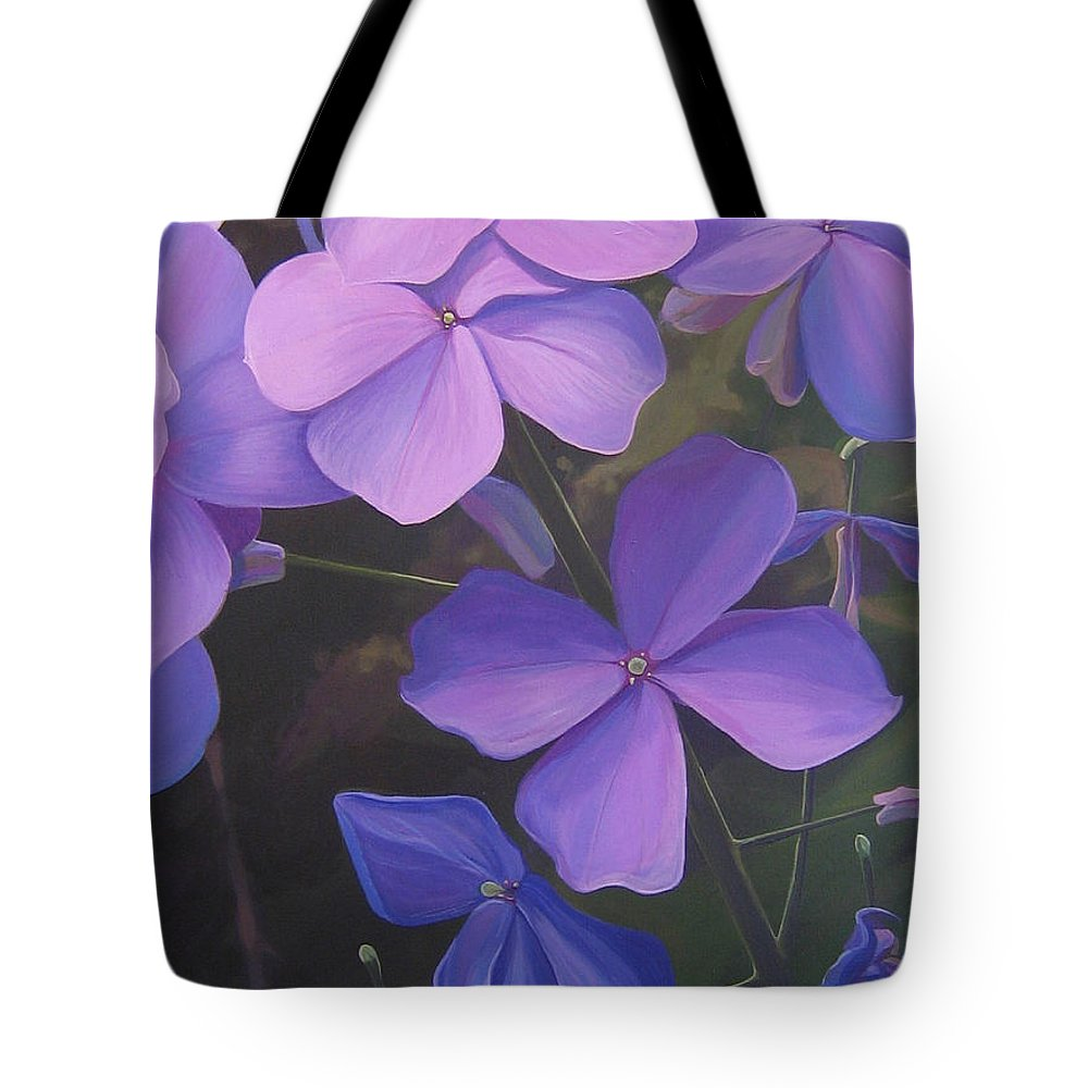 Closeup Of Colorado Wildflower Near Durango Tote Bag featuring the painting Lush Life by Hunter Jay