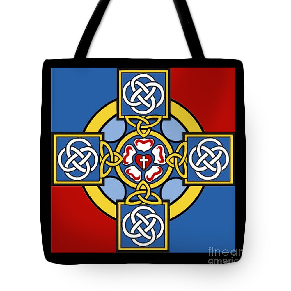 Cross Tote Bag featuring the photograph Lutheran Cross by Jost Houk