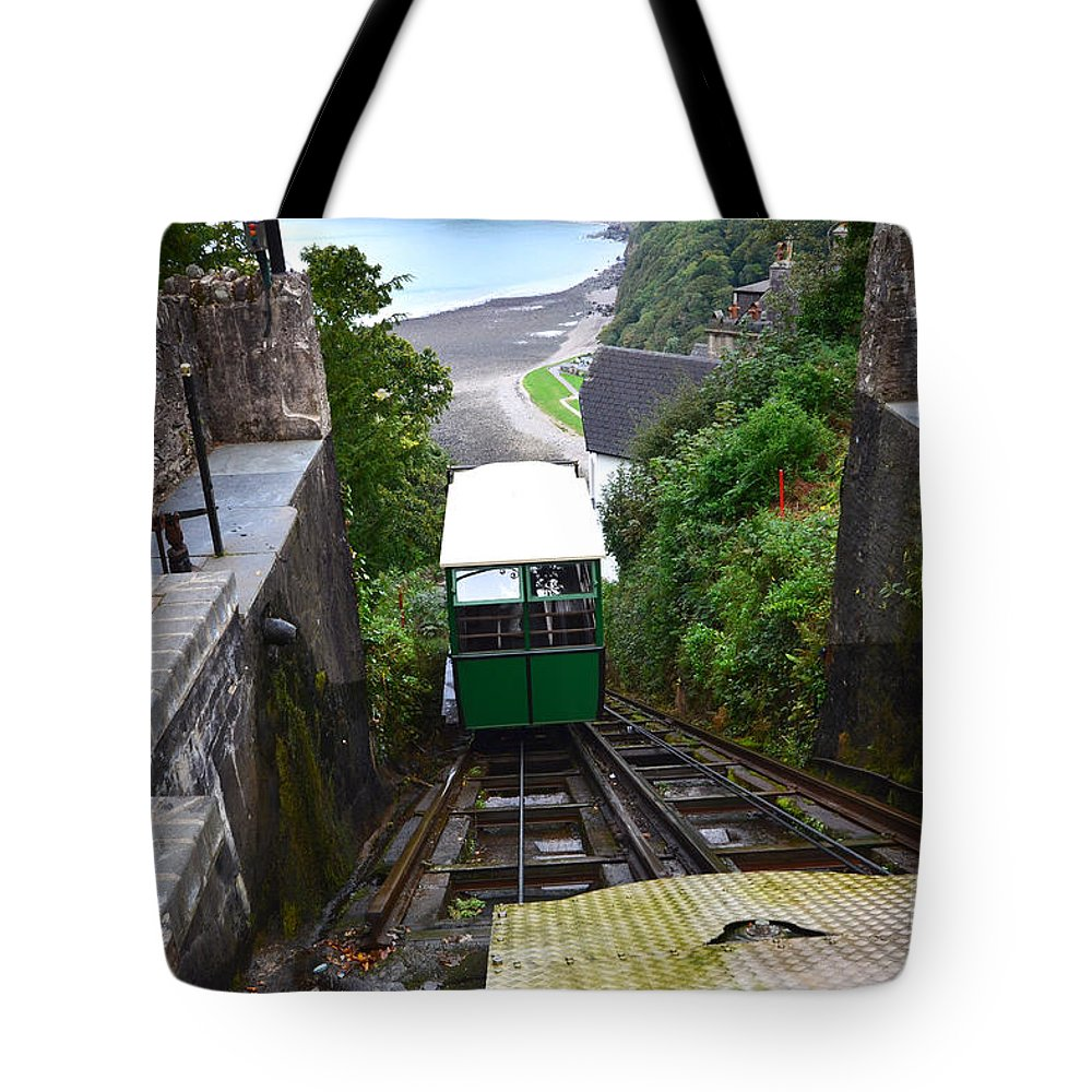 Lynton Tote Bag featuring the photograph Lynton and Lynmouth Cliff Railway by Smart Aviation
