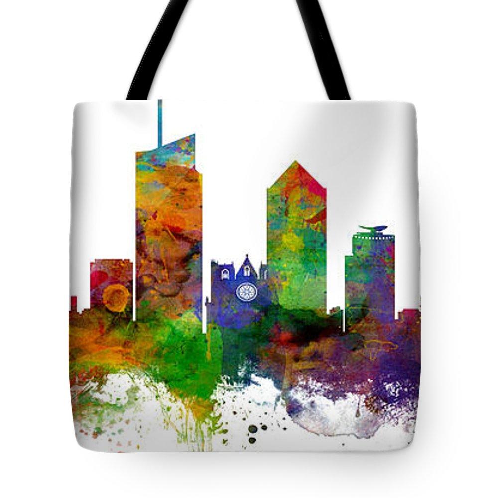 06cfcb3cf4db Lyon France Skyline Panoramic Custom Tote Bag