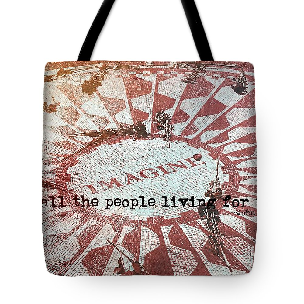 John Tote Bag featuring the photograph Lyrics Quote by JAMART Photography