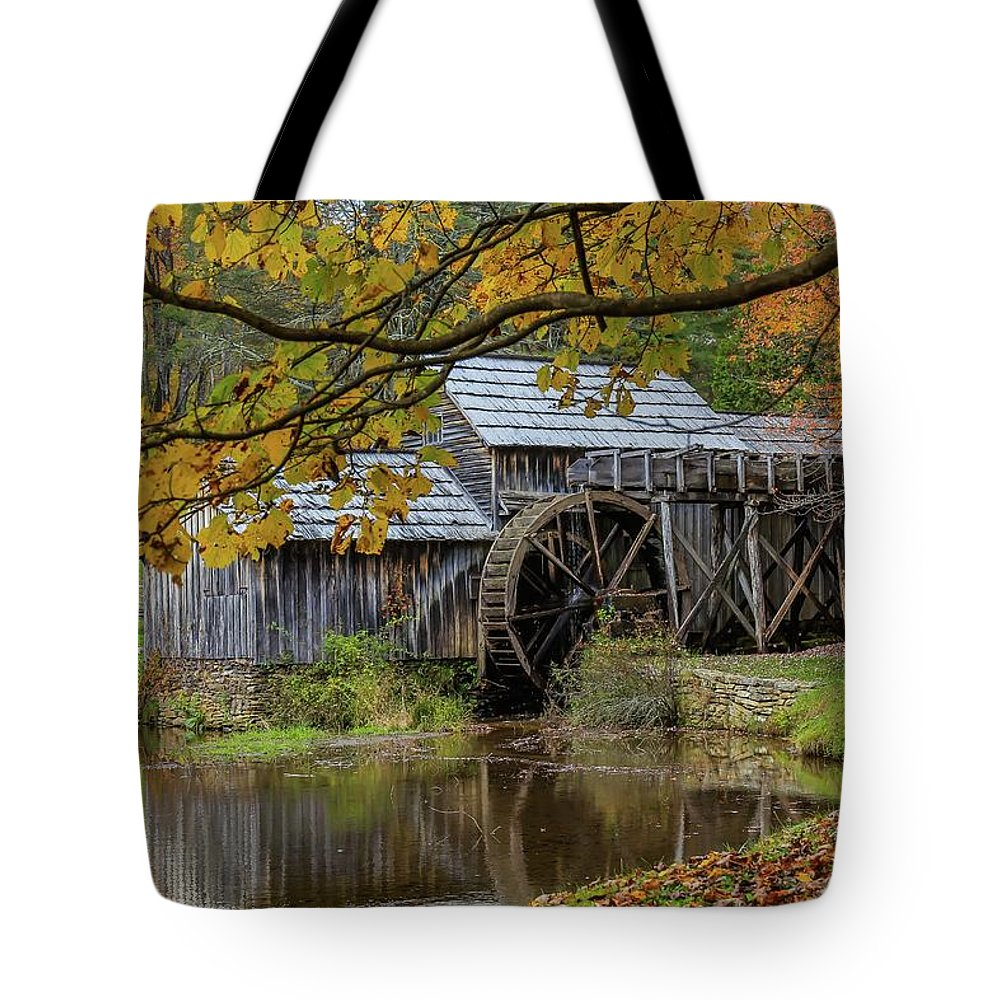 Fall Tote Bag featuring the photograph Mabry Mill In Fall 3 by Kevin Craft