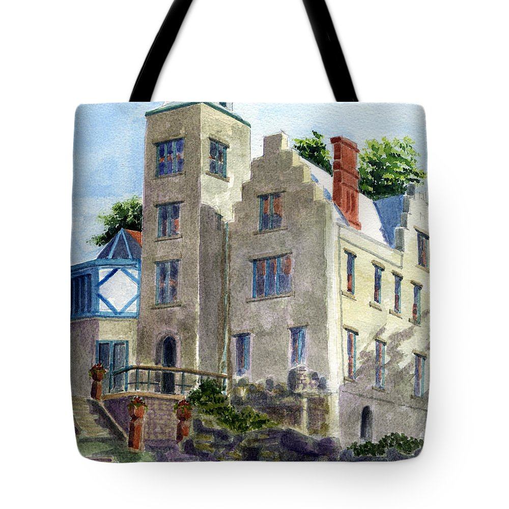 Castle Tote Bag featuring the painting Mac-o-chee Castle by Marsha Elliott