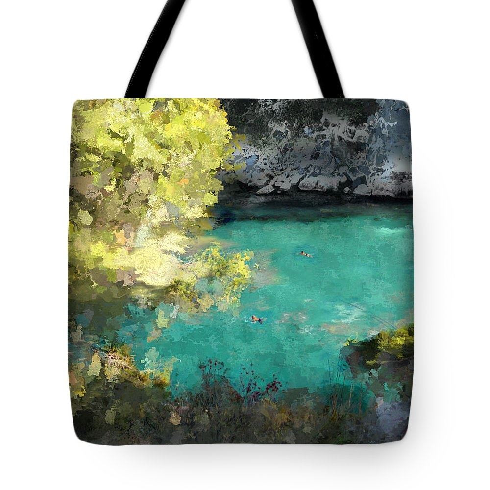 Sea Tote Bag featuring the photograph Macarella by Dee Flouton