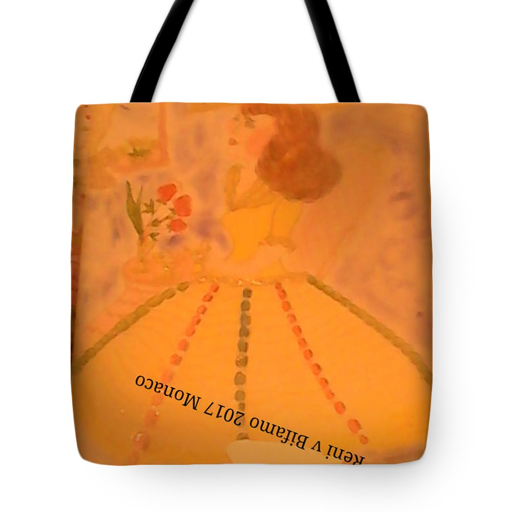 Pastell Lady Portrait My My Own Style Creation Tote Bag featuring the pastel Macaron Lady II by Reni Bifamo von