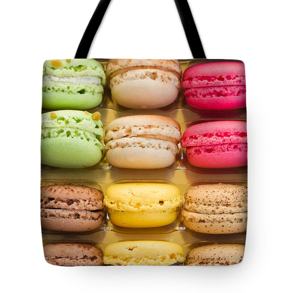 Macaron Tote Bag featuring the photograph Macaroons by Anastasy Yarmolovich