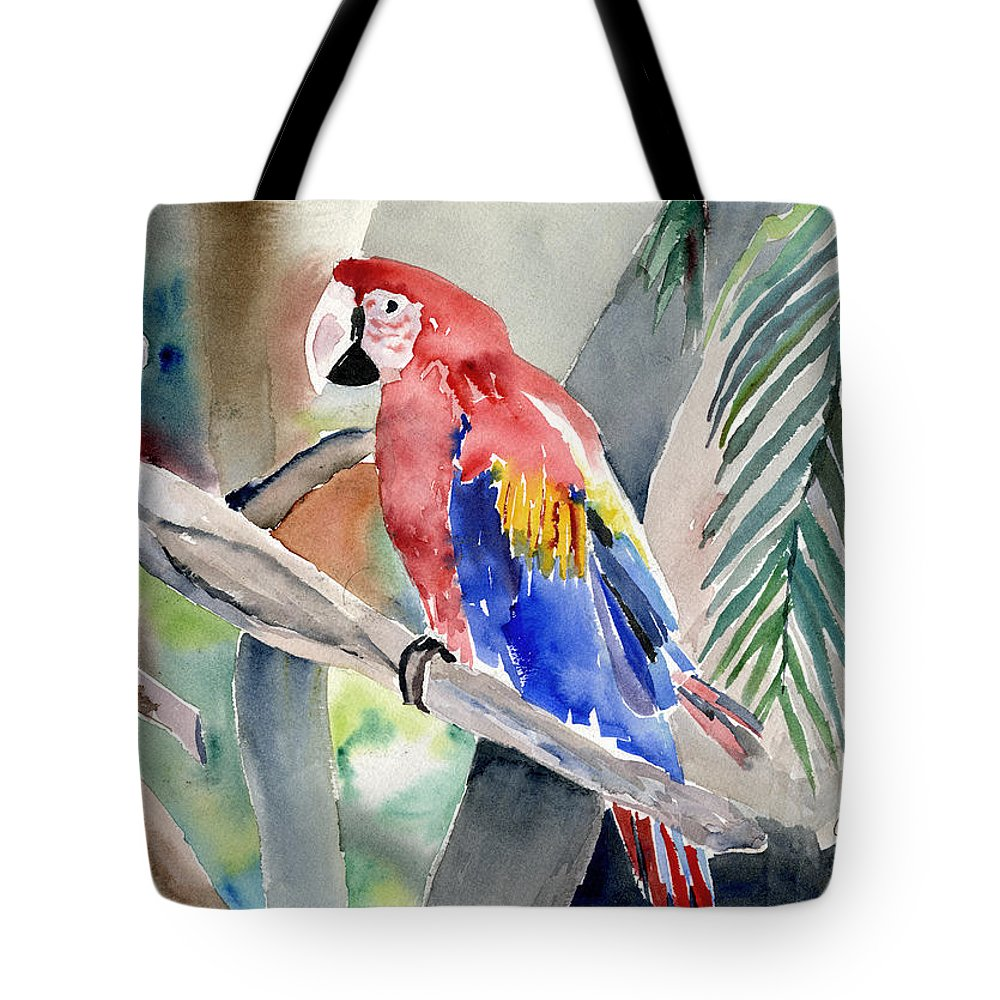 Macaw Tote Bag featuring the painting Macaw by Arline Wagner