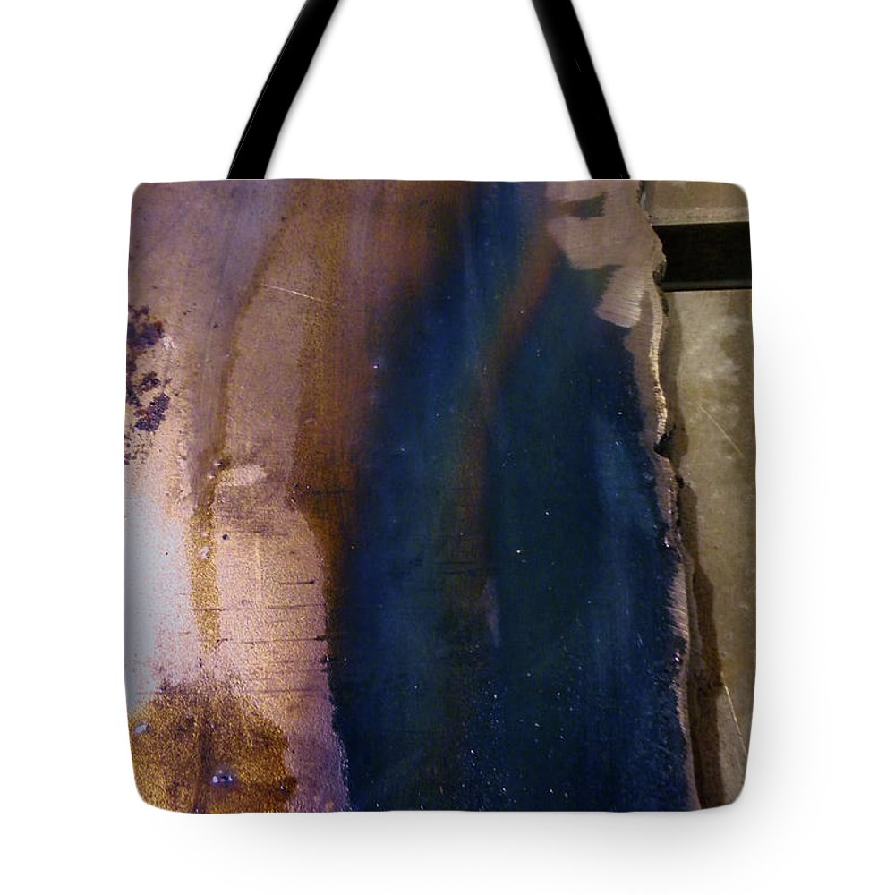 Abstract Tote Bag featuring the photograph Machine Age Blues by Jay Ressler