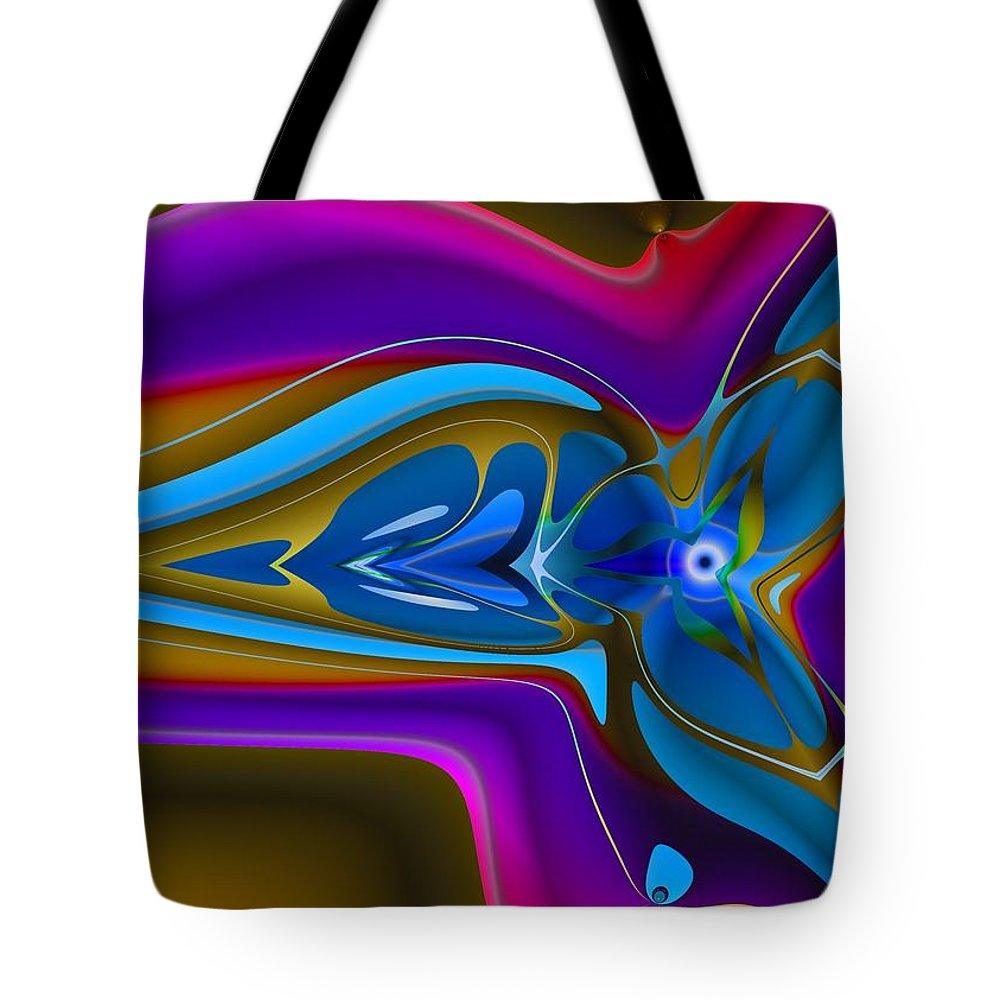 Vivid Tote Bag featuring the digital art Machined Whorl by Christopher Jay