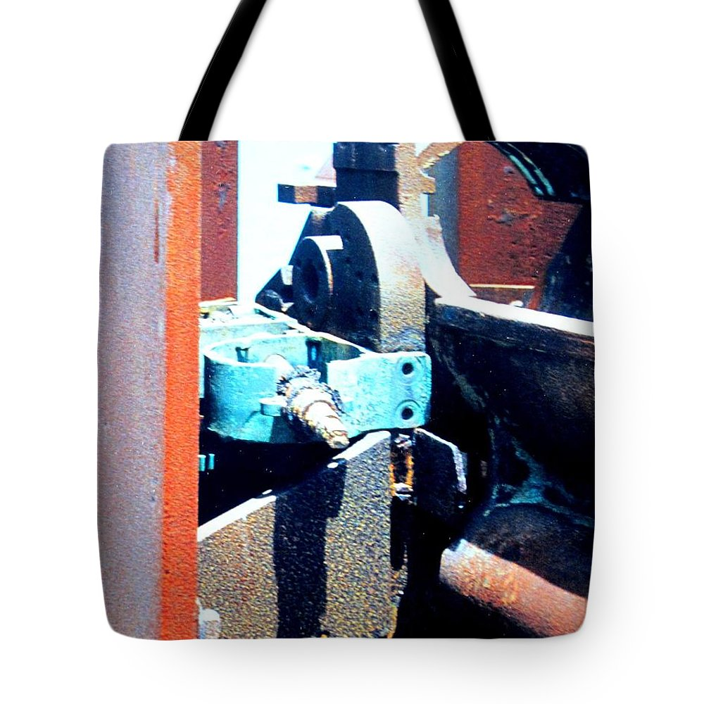 Rust Tote Bag featuring the photograph Machinery by Ian MacDonald