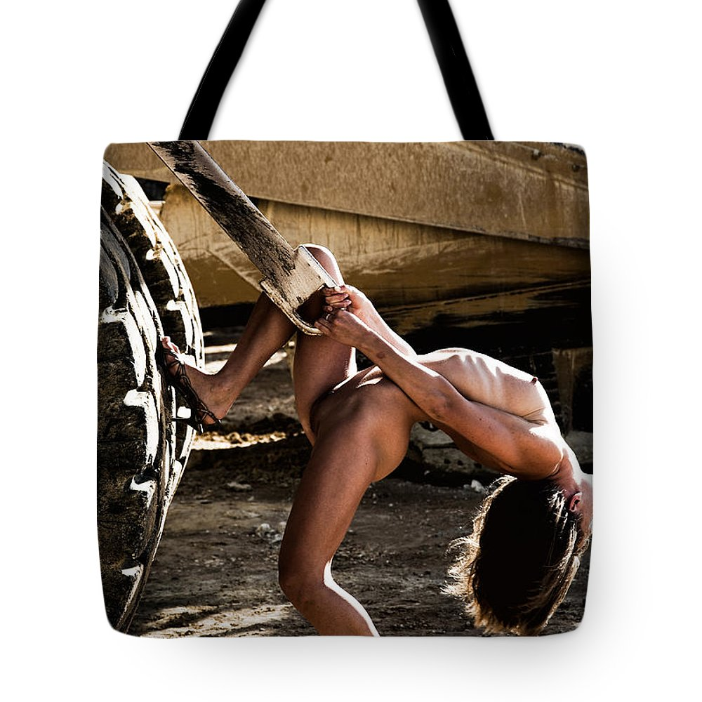 Sensual Tote Bag featuring the photograph Machinery by Olivier De Rycke