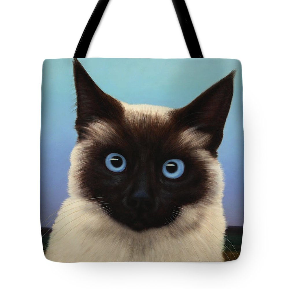Cat Tote Bag featuring the painting Machka 2001 by James W Johnson