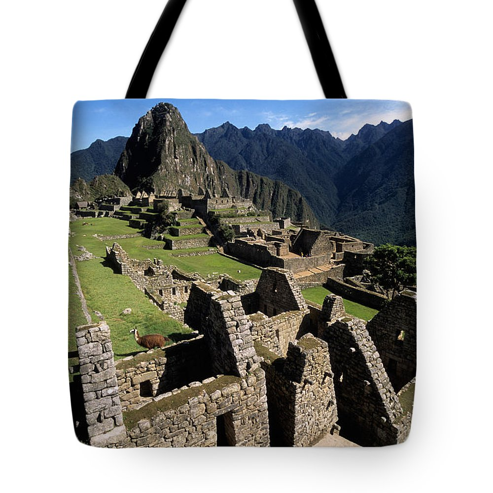 Machu Picchu Tote Bag featuring the photograph Machu Picchu Residential Sector by James Brunker