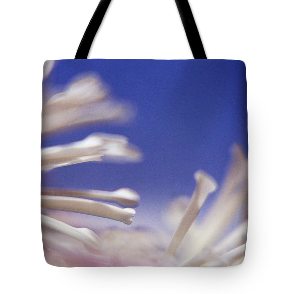 Macro Tote Bag featuring the photograph Macro Flower 2 by Lee Santa