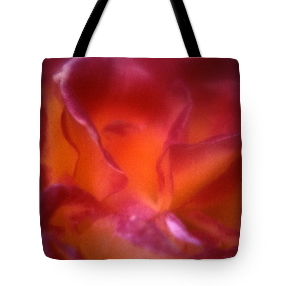 Tote Bag featuring the photograph Macro Rose by Lee Santa