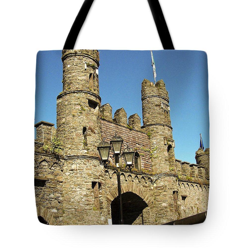 Irish Tote Bag featuring the photograph Macroom Castle County Cork Ireland by Teresa Mucha
