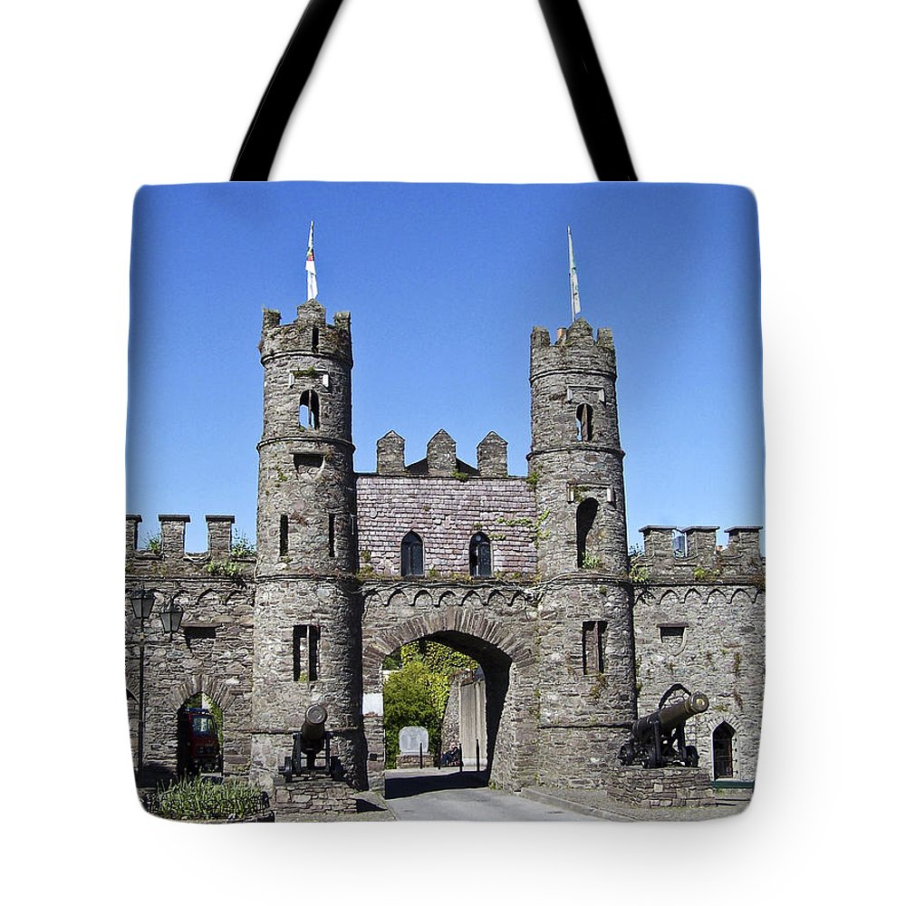 Irish Tote Bag featuring the photograph Macroom Castle Ireland by Teresa Mucha