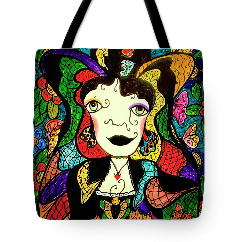 Fantasy Tote Bag featuring the painting Madame Butterfly by Natalie Holland