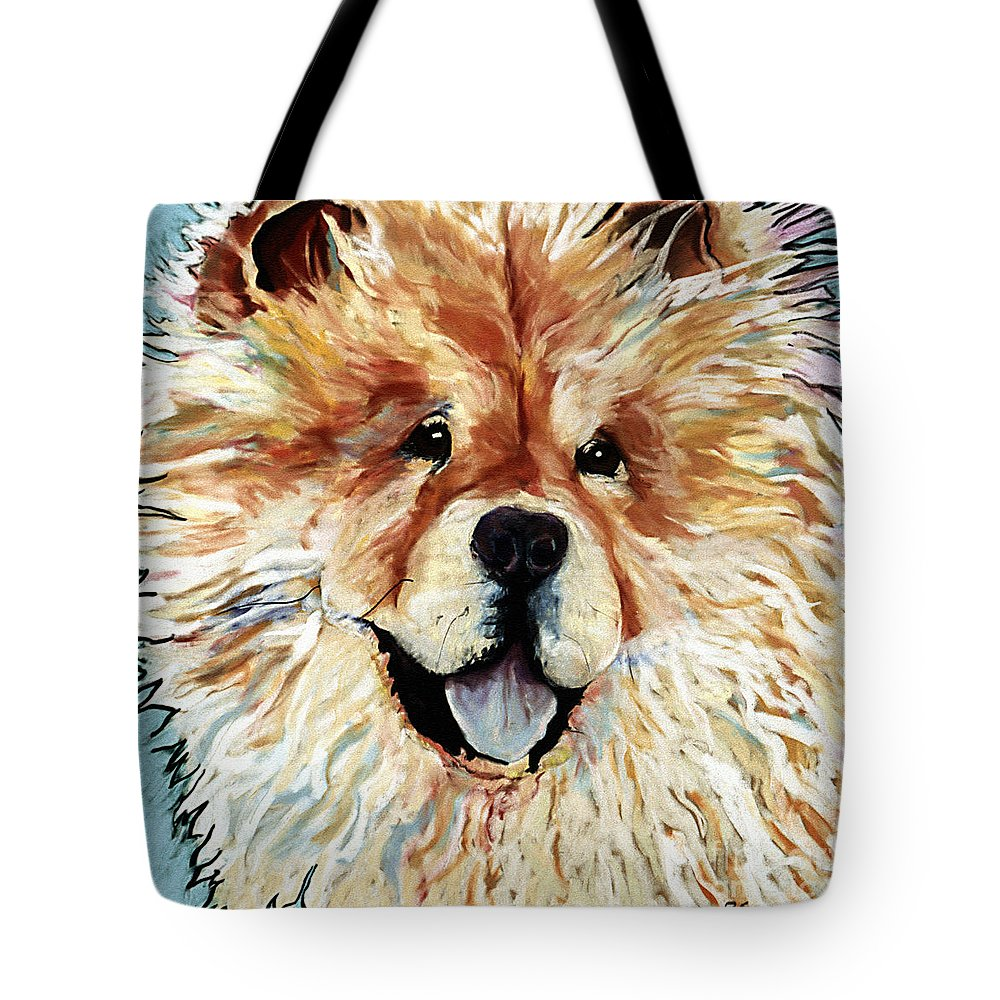 Chow Chow Tote Bag featuring the pastel Madame Chu Cho by Pat Saunders-White