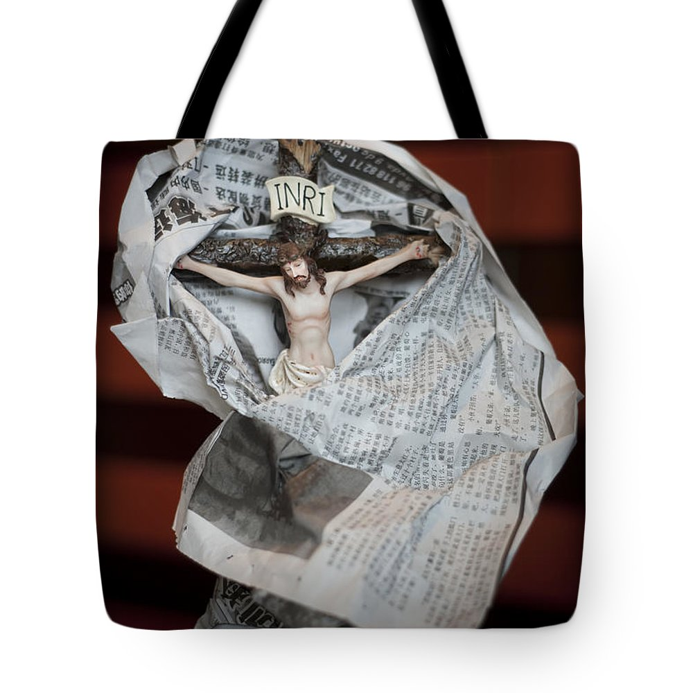 Spain Tote Bag featuring the photograph Made In China Christ by Rafa Rivas