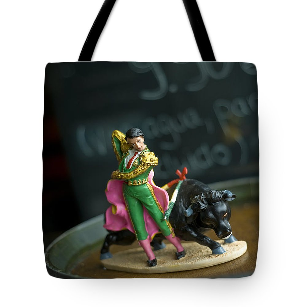 Spain Tote Bag featuring the photograph Made In China Matador by Rafa Rivas