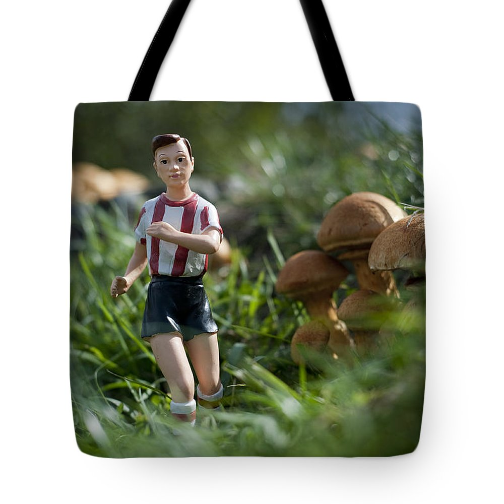 Spain Tote Bag featuring the photograph Made In China Soccer Player by Rafa Rivas