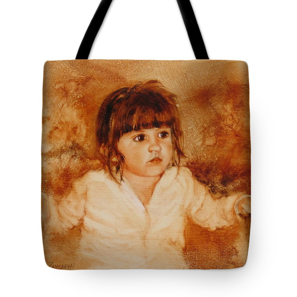 Oil Painting Tote Bag featuring the painting Madison by Laura Lee Zanghetti