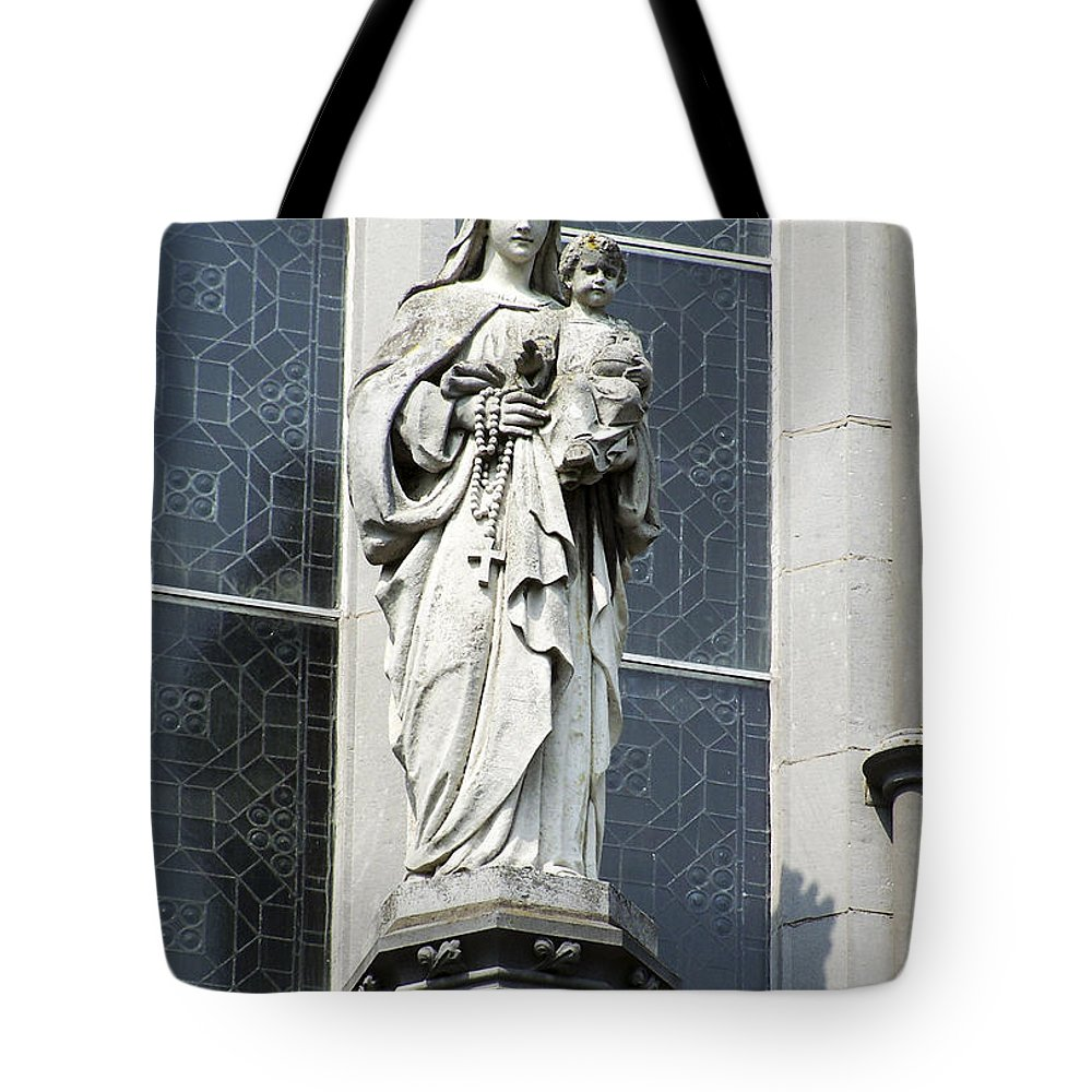 Ireland Tote Bag featuring the photograph Madonna And Child by Teresa Mucha