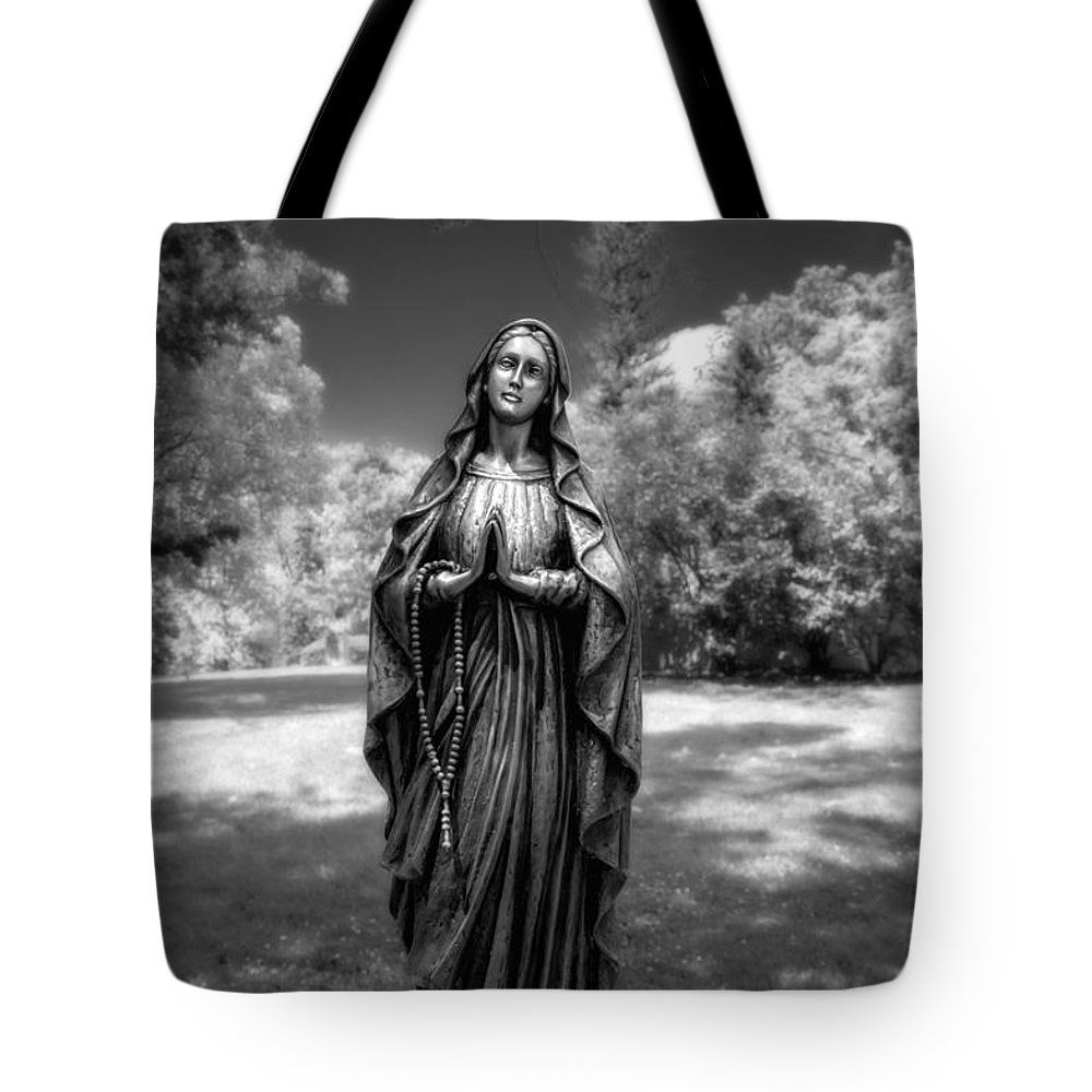 Belief Tote Bag featuring the photograph Madonna by Tom Mc Nemar
