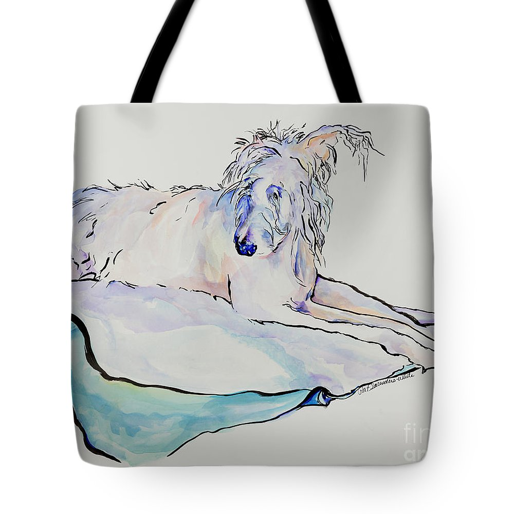 Animal Portrait Tote Bag featuring the painting Maevis by Pat Saunders-White