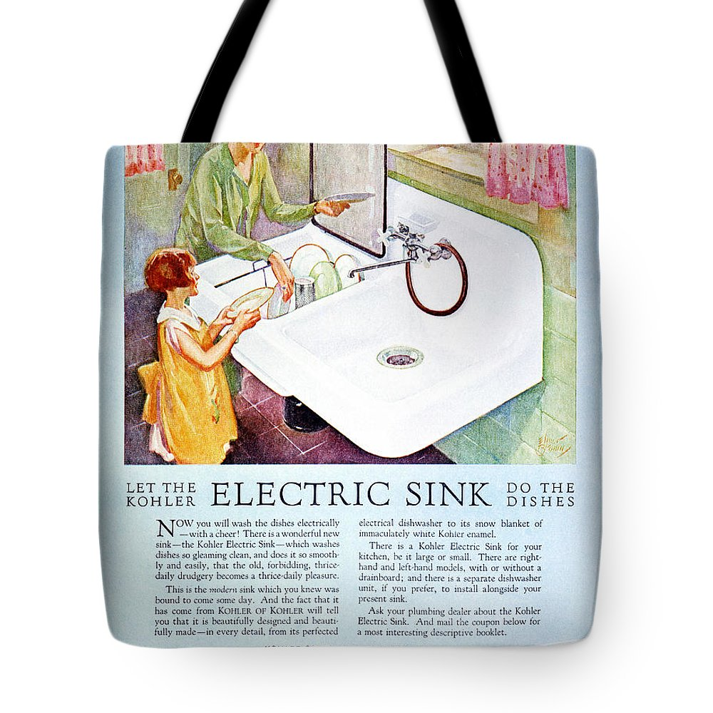 1926 Tote Bag featuring the photograph Magazine Ad, 1926 by Granger