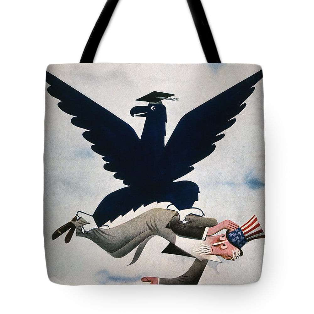 1934 Tote Bag featuring the photograph Magazine: New Deal, 1934 by Granger