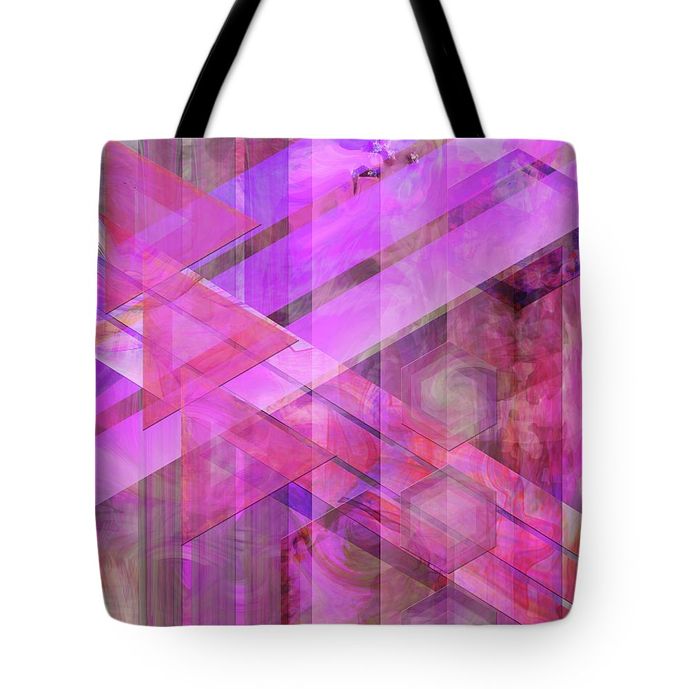 Magenta Haze Tote Bag featuring the digital art Magenta Haze by John Beck